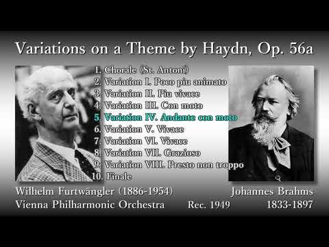 Brahms: Variations on a Theme by Haydn, Furtwängler & VPO (1949) ブラームス ハイドン変奏曲 フルトヴェングラー