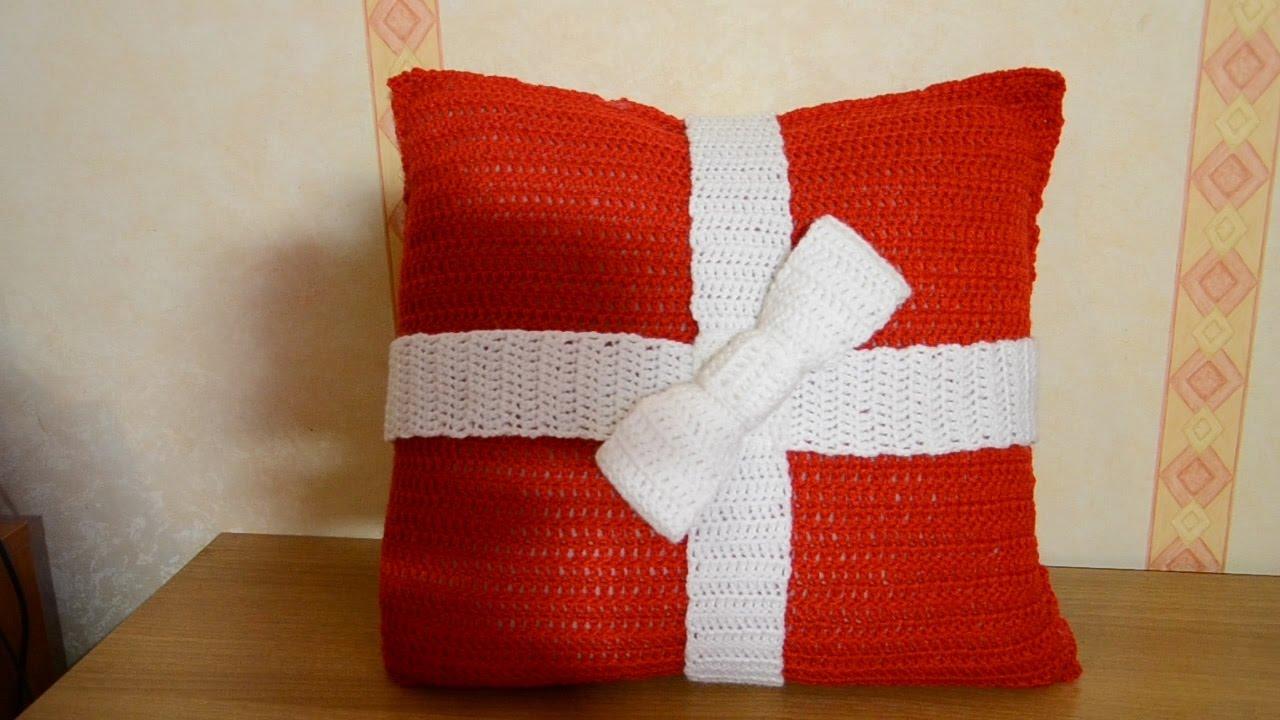 Preferenza Cuscino regalo all'uncinetto | Natale - YouTube FY79
