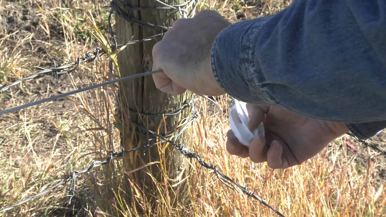 How To Install Electric Fence Wire Between Corner Post