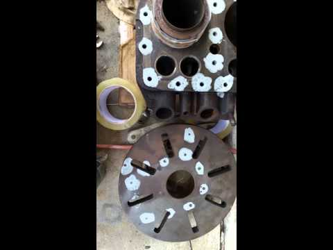Wisconsin VH4D Engine Rebuild Mounting Jugs