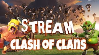 просто стрим по clash of clans