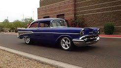 1957 Chevrolet Chevy Bel Air Custom aka Bill Air & Engine Sound on My Car Story with Lou Costabile