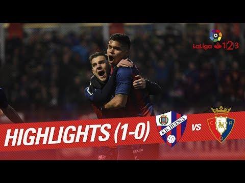 Resumen de SD Huesca vs Osasuna (1-0)