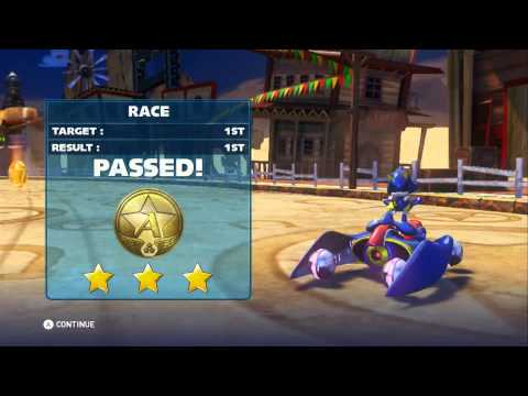 Sonic & All-Stars Racing Transformed Wii U HD Gameplay Compilation