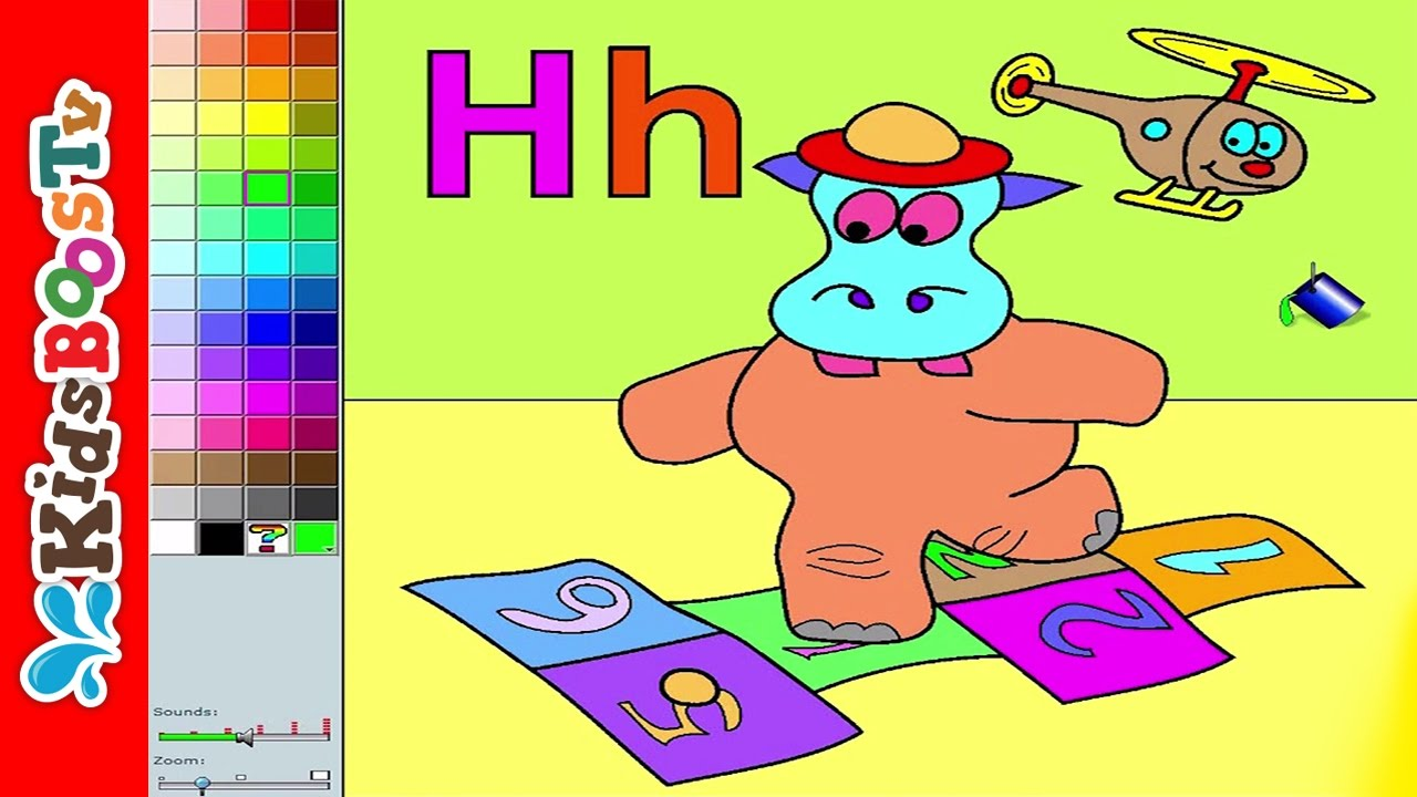 Alphabet H Coloring Pages For Toddlers 🐵 Letter Coloring for Kids ...
