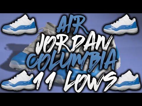 """NBA 2K16 Shoe Creator - Air Jordan 11 Low """"Columbia"""""""