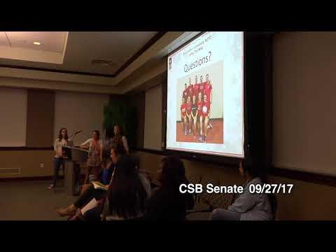 CSB Senate Meeting on 09 /27 / 2017