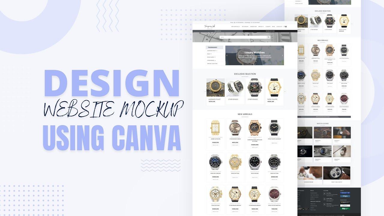 Download Website Mockup Design Bangla   Canva Tutorial   Shuvo Sarker
