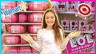 WALMART vs TARGET LOL Doll SHOPPING! Who has more?! L.O.L Surprise Doll toy hunt!
