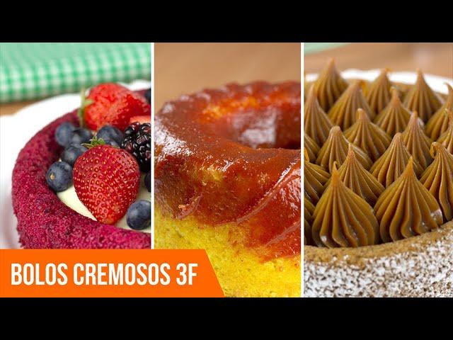 3 Maneiras de fazer Bolo Cremoso com Mistura 3F - Frutas Vermelhas, Milho ou Churros