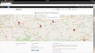 Odoo 8 - Maps - Point Of Delivery