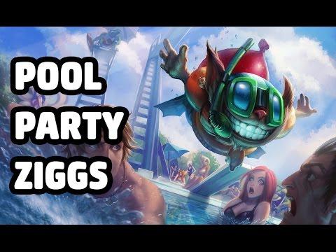 POOL PARTY ZIGGS SKIN SPOTLIGHT - LEAGUE OF LEGENDS