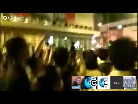 Live from Hong Kong Oct 18, 2014 – Protesters Attempt to Take Streets, Delay Busses