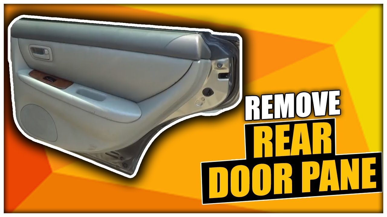 How To Remove The Rear Door Panel On A Lexus Es300 Youtube