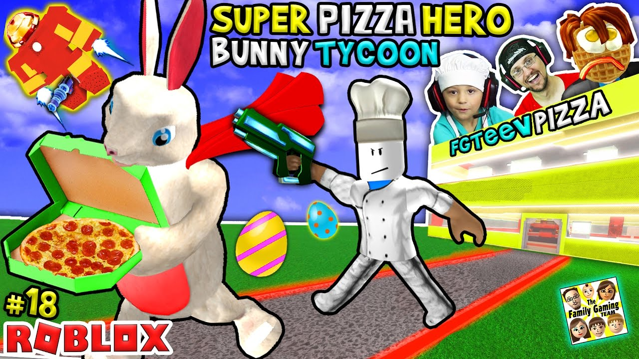 Roblox Super Pizza Hero Easter Bunny Tycoon Fgteev  Superhero Eggs W Hulkbuster