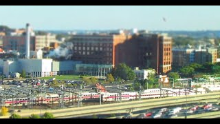 """""""Rush Hour in Boston"""" Trains & Express Way Timelaspe (10/9/15)"""