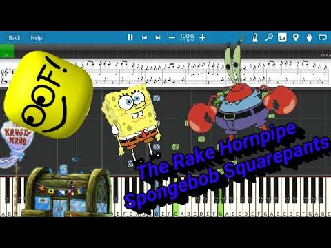 The Rake Hornpipe(Krusty Krab Theme)But It's Roblox Death Sound