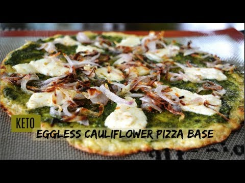 Keto Veg Cauliflower Pizza Base | No egg pizza base | Keto Recipes | Low Carb Recipes