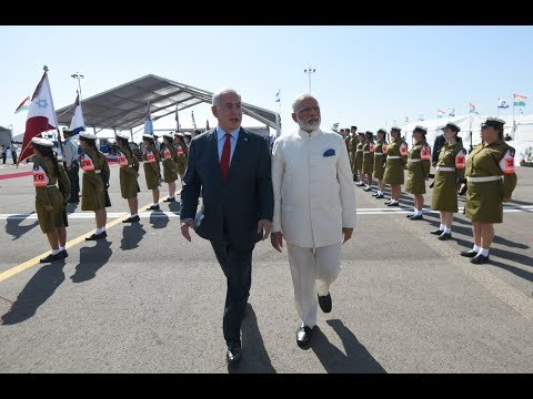 PM Modi arrives to a warm welcome in Jerusalem, Israel, 04.07.2017