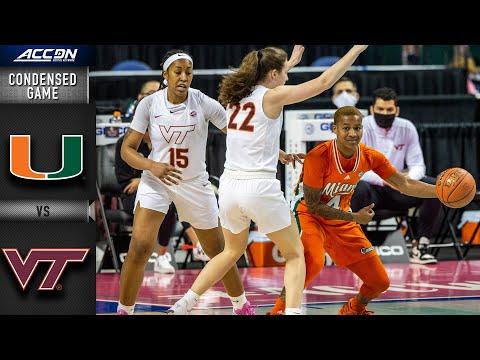 Miami vs. Virginia Tech Condensed Game   2020-21 ACC Women's Basketball  