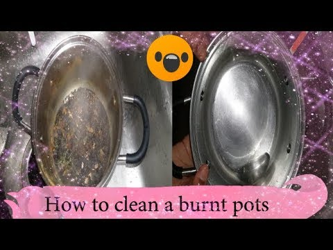 How to Clean a burnt sauce pan, easy and simple ways /USA / Adisal