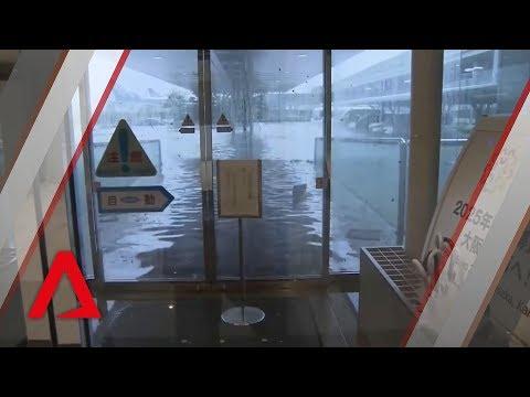 Typhoon Jebi lashes Osaka