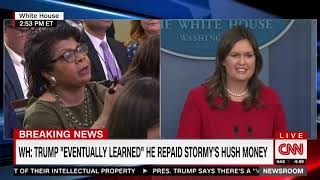 Sarah Sanders Snaps At April Ryan: 'You Don't Know Much About Me In Terms Of What I Feel'