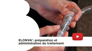 Elonva® :préparation et administration du traitement. Instituto Bernabeu