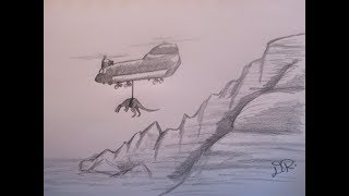 Drawing Baryonyx and Helicopter || Tutorial - Danny the Dinosaur Drawer