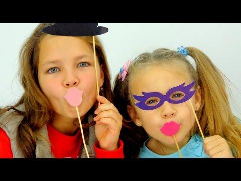 Видео для детей. Ксюша и Настя - дети актеры. Школа Искусств Аллы Карповны