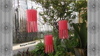 DIY Lampion dari Bekas Sedotan dan Botol Air Mineral