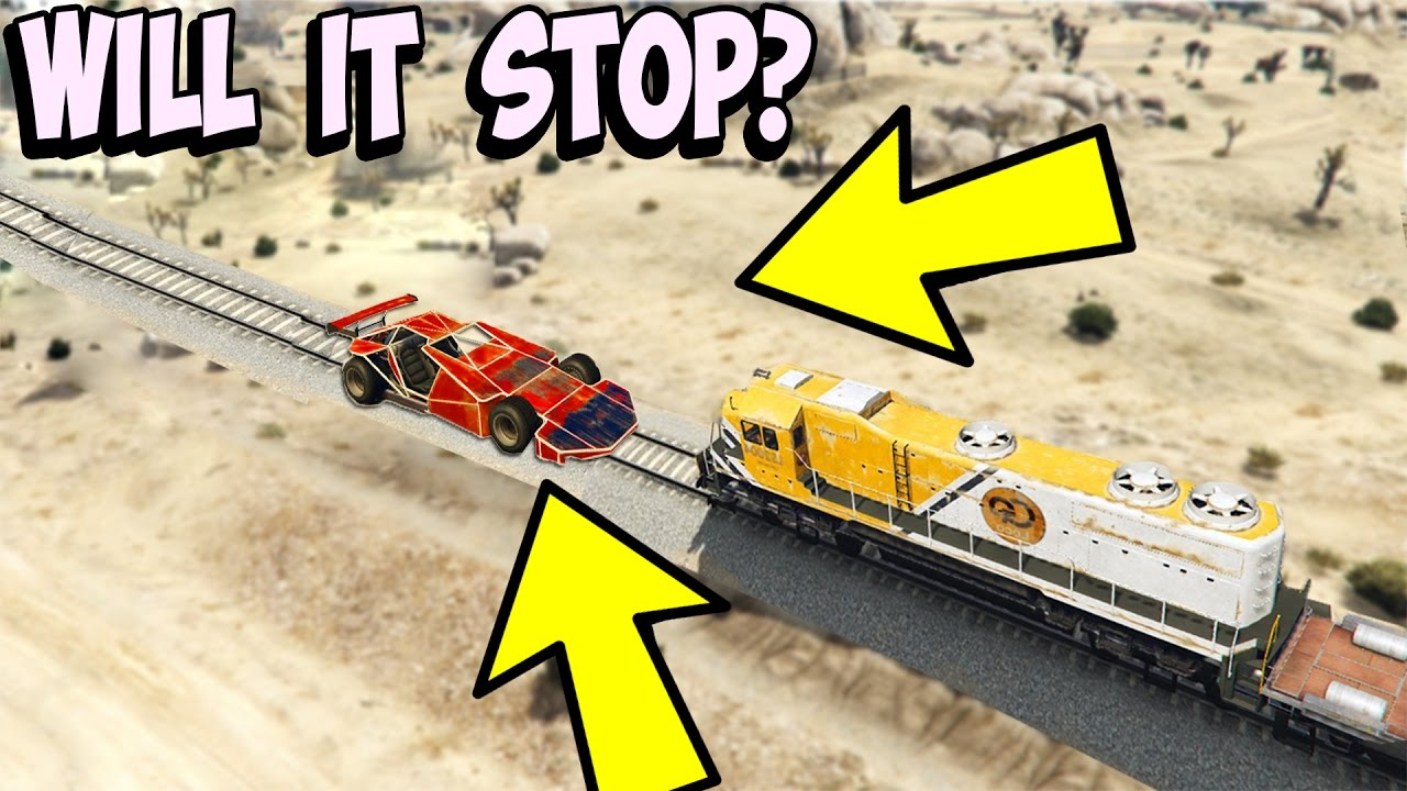 Can A Ramp Car Stop The Train In Gta 5 Youtube