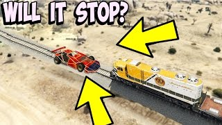 CAN A RAMP CAR STOP THE TRAIN IN GTA 5?