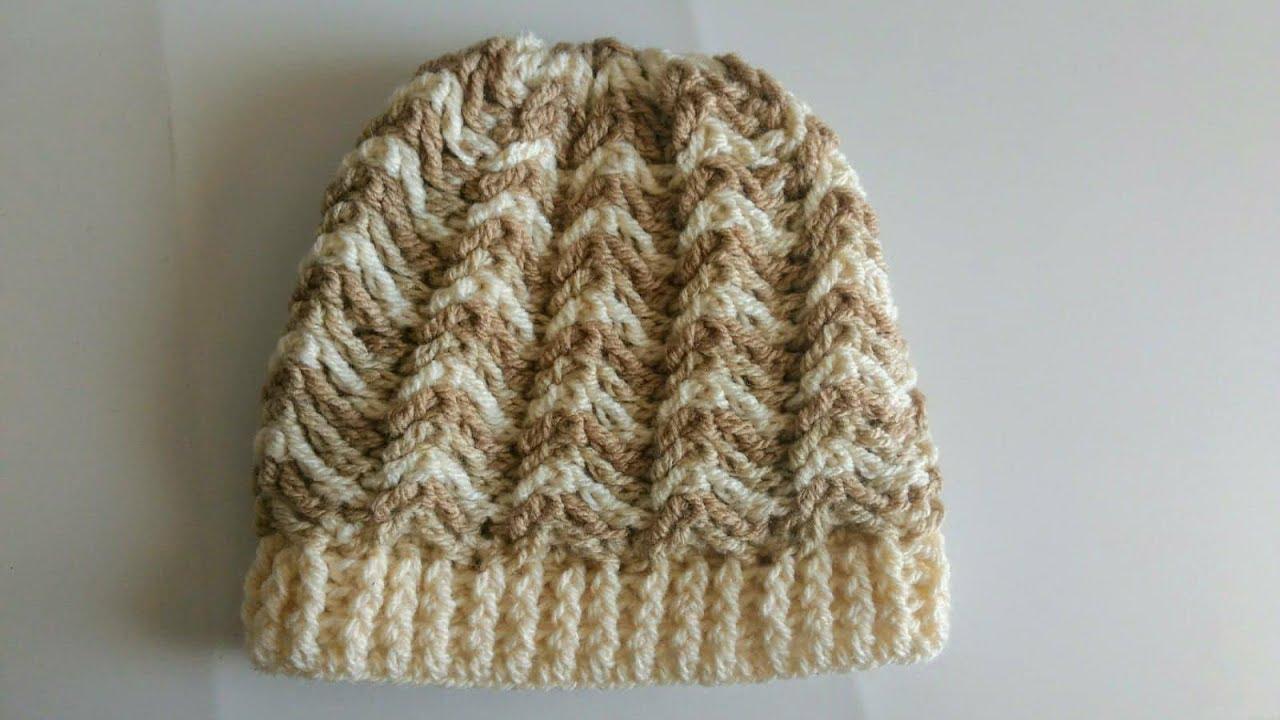 d7ea4e727bd5e Gorro para hombre a crochet en todas las tallas - YouTube