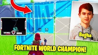 Bugha Shows FASTEST Edits! (WORLD CHAMPION) | Fortnite Battle Royale