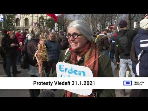 Protesty Viedeň 31.1.2021