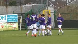 Andonline U21 Cup Charleroi - Anderlecht Free Kick Milan Corryn