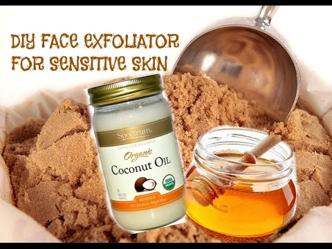 Diy Face Exfoliator For Sensitive Skin Summer Glow Youtube