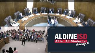 Aldine ISD's Board Meeting - April 16, 2019