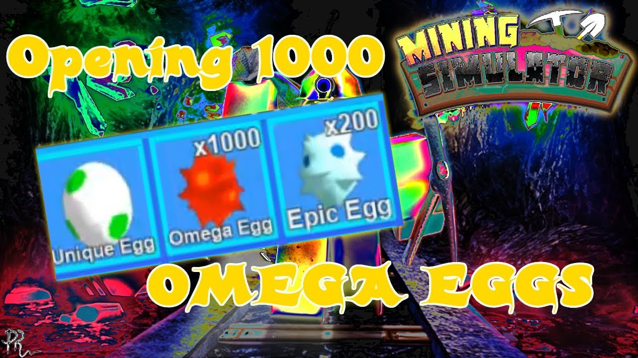 Opening About 1000 Omega Eggs With Auto Egg Equip Mining