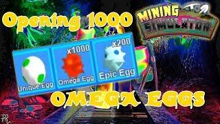 Apertura di circa 1000 Omega Uova con Auto Egg Equip Simulatore di data mining (ROBLOX)
