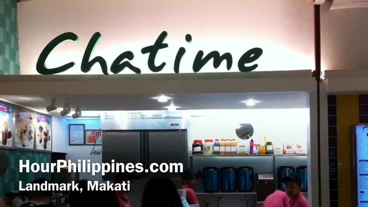 Chatime Landmark Makati Metro Manila Philippines by HourPhilippines com