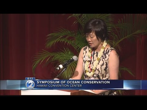 Japan's first lady in Honolulu for ocean conservation symposium