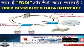 """क्या है """"FDDI"""" और कैसे काम करता है ?  : FIBER DISTRIBUTED DATA INTERFACE  : FDDI"""