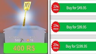 MOST EXPENSIVE TOOL TO BUY! 400 ROBUX! (ROBLOX MINING SIMULATOR)