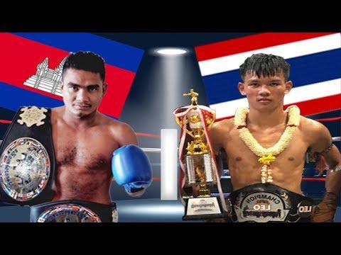 Meun Sophea vs Lay Phayak(thai), Khmer Boxing Bayon 18 June 2017, Kun Khmer vs Muay Thai