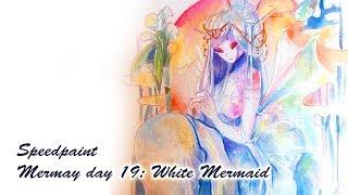 [Speedpaint] Mermay day 19: White mermaid