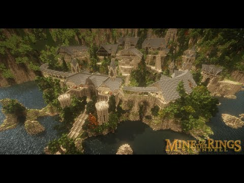 Minecraft Wallpaper 3d Minecraft Mine Of The Rings Rivendell Youtube