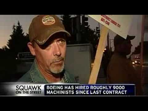 CNBC news: Boeing machinists Strike 09/08/08