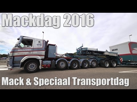 Brouwer & J. Brouwer, Mackdag 2016 Truckshow, Heavy Haulage and Special Transport trucks
